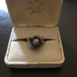 Maui Diver Tahitian Black Pearl Ring